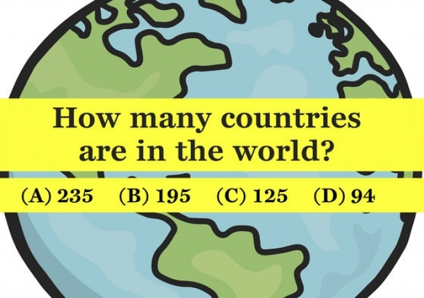 Geography Test. Only People with an IQ Score of 144 or Higher Passed It
